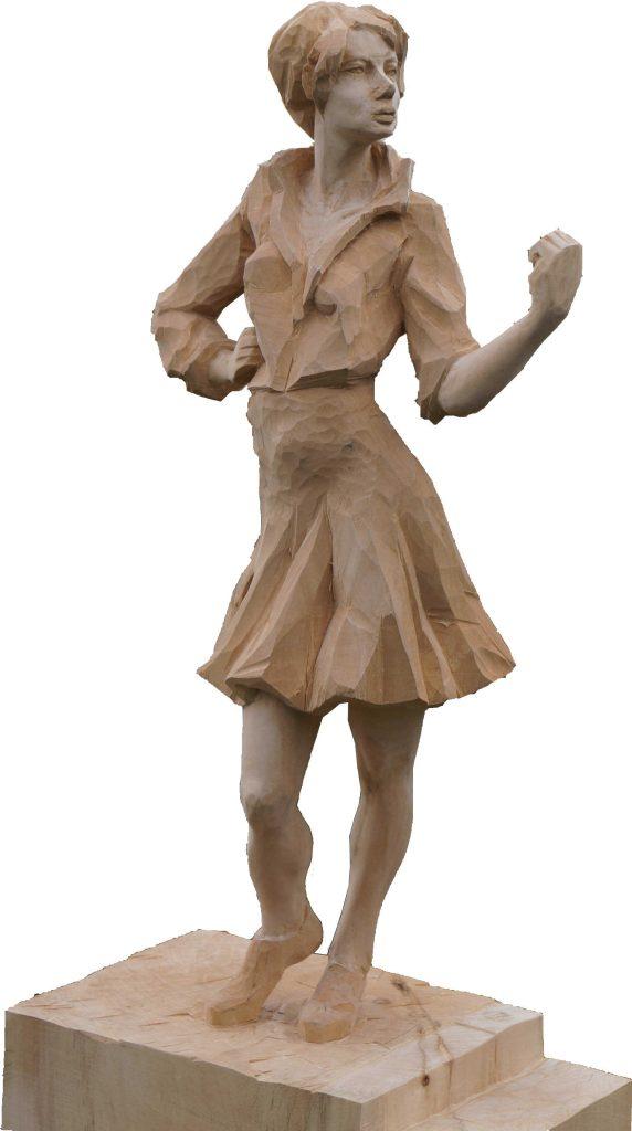 Figur-Powerfrau-Holzfigur