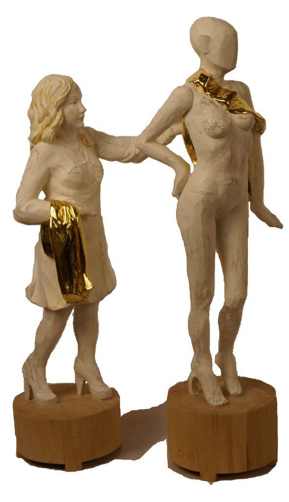 Holzfiguren-Gold-Beweglich
